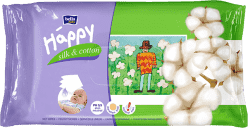 BELLA HAPPY BABY Vlhčené obrúsky hodváb a bavlna 64 ks