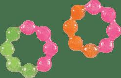 MUNCHKIN Żelowy gryzak chłodzący – kółeczko. Różowy + pomarańczowy