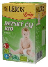 LEROS BABY BIO detský čaj bylinkový 20x2g
