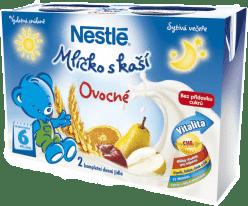 NESTLÉ ovocné mlíčko s kaší (2x200 ml)