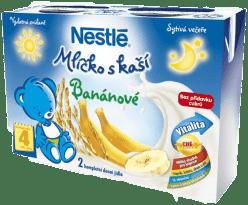 NESTLÉ banánové mlíčko s kaší (2x200 ml)