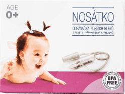 NOSÁTKO Odsávačka nosních hlenů + vzorek sterilní ampule