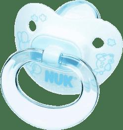 NUK Cumlík Classic modrý, silikón, veľ.2 (6-18m.)