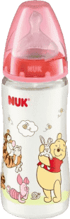 NUK FC+ láhev Disney (silikon) 300ml-červená