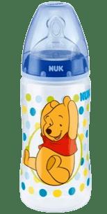 NUK FC+ fľaša Disney (silikón) 300ml-modrá