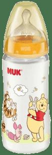 NUK FC butelka Disney (silikon) 300 ml – żółta