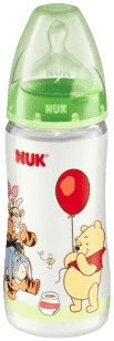 NUK FC+ fľaša Disney (silikón) 300ml-zelená