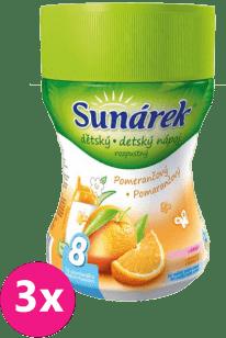 3x SUNÁREK Pomarančový rozpustný nápoj 200g