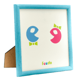 FEEDO rámček modrý (Feedo klub)