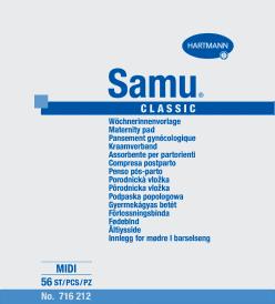 Samu Midi Classic podpaski poporodowe - 56 szt.