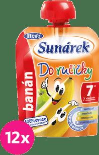 12x SUNÁREK Do ručičky banán 90g - ovocný príkrm