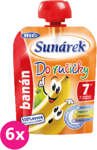 6x SUNÁREK Do ručičky banán 90g - ovocný příkrm