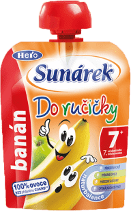 SUNÁREK Do ručičky banán 90g - ovocný príkrm