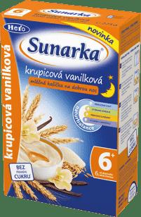 SUNARKA Krupicová kašička s vanilkou na dobrou noc 225g - mléčná kaše