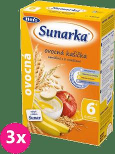 3x SUNARKA ovocná s 8 cereáliemi (180 g) - nemléčná kaše