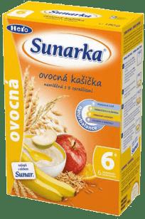 Sunarka ovocná s 8 cereáliemi (180 g) - nemléčná kaše