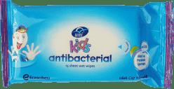 UNI KIDS antibakteriální vlhčené ubrousky 15 ks