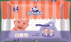BELLA PANDA Vlhčené ubrousky 64 ks