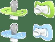 iiamo Peace smoczek zielono-niebieski, 2 szt., 0-6m