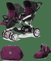 CASUALPLAY Set kočík pre dvojičky Stwinner, 2 x autosedačka Sono a Bag 2016 - Plum