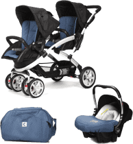 CASUALPLAY Zestaw Wózek dla bliźniąt Stwinner, 2x Fotelik samochodowy Baby 0plus i Torba 2016 - Lapi