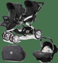 CASUALPLAY Zestaw Wózek dla bliźniąt Stwinner, 2x Fotelik samochodowy Baby 0plus i Torba 2016 - Meta