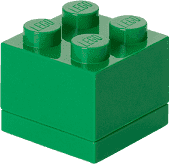 LEGO® Mini Box, tmavo zelená