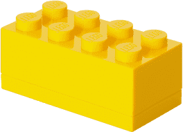 LEGO® Mini Box, žltá