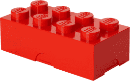 LEGO® Box na svačinu, červená