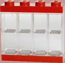LEGO® Zberateľská skříňka na 8 minifigúriek, červená