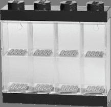 LEGO® Zberateľská skříňka na 8 minifigúriek, čierna