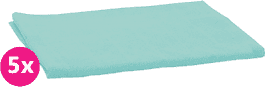 SCAMP Pieluszki bawełniane turkusowe 5 szt.