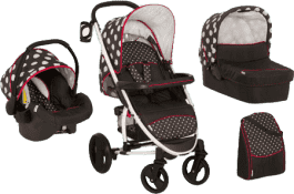 HAUCK Wózek trzyfunkcyjny Malibu XL All in One Set Dots black 2016