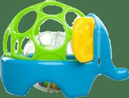 BRIGHT STARTS Hračka zvířátko Oball Rollie Rattles™, 3m+ (slon)