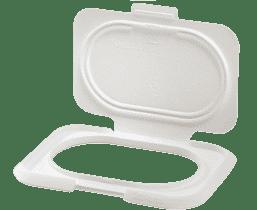 BITATTO Zamkniecie z klapką na wilgotne chusteczki - białe