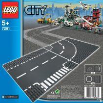 LEGO® City Supplementary Križovatka v tvare T a zákruty