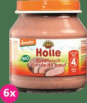6x HOLLE Bio Hovězí maso - masový příkrm, 125g