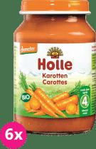 6x HOLLE Bio Mrkva - zeleninový príkrm, 190g