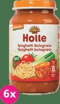 6x HOLLE Bio Spaghetti Bolognese - mäsovo-zeleninový príkrm, 220g