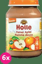 6x HOLLE Bio Jemné jablko - ovocný príkrm, 190g