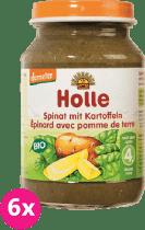 6x HOLLE Bio Špenát s bramborem - zeleninový příkrm, 190g
