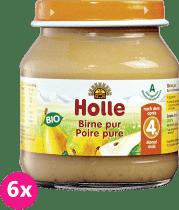 6x HOLLE Bio 100% hruška - ovocný príkrm, 125g