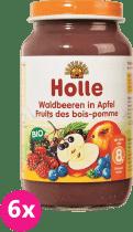 6x HOLLE Bio Lesní plody v jablku - ovocný příkrm, 220g