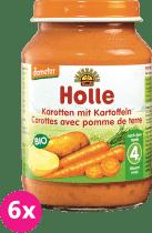 6x HOLLE Bio Mrkev a brambor - zeleninový příkrm, 190g