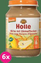 6x HOLLE Bio Hruška a špaldovej vločky - ovocný príkrm, 190g