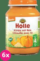 6x HOLLE Bio Dýně s rýží - zeleninový příkrm, 190g