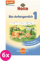 6x HOLLE Bio počiatočná mliečna dojčenská výživa 1, 400g