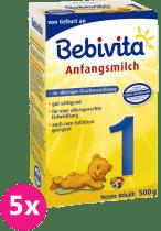 5x BEBIVITA 1 (500g) - dojčenské mlieko