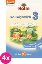 4x HOLLE Bio pokračovacia mliečna dojčenská výživa 3, 600g