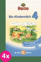 4x HOLLE Bio batoľacia mliečna dojčenská výživa 4, 600g